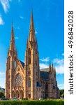 church  eglise  st. paul in... | Shutterstock . vector #496842028