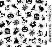 halloween background | Shutterstock .eps vector #496842070