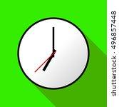 clock icon  vector illustration ... | Shutterstock .eps vector #496857448