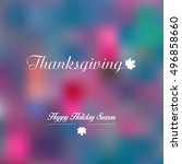 thanksgiving day banner with... | Shutterstock .eps vector #496858660