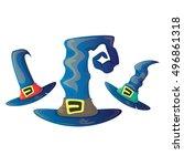 vector cartoon glossy blue...   Shutterstock .eps vector #496861318