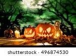 Scary Halloween Pumpkins On...