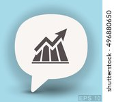 pictograph of graph   Shutterstock .eps vector #496880650