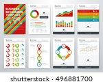 modern infographic vector... | Shutterstock .eps vector #496881700