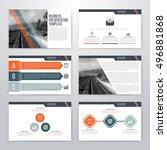 infographics presentation... | Shutterstock .eps vector #496881868
