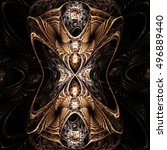 fractal gothic  background   ... | Shutterstock . vector #496889440