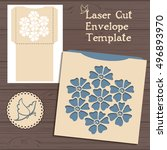 lasercut vector wedding... | Shutterstock .eps vector #496893970