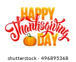 thanksgiving greeting card with ... | Shutterstock .eps vector #496895368