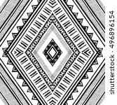 ethnic seamless rhombus pattern ... | Shutterstock .eps vector #496896154