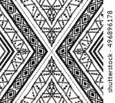 ethnic seamless rhombus pattern ... | Shutterstock .eps vector #496896178