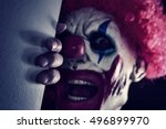 Closeup Of A Scary Evil Clown...