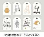 set with merry christmas and... | Shutterstock .eps vector #496901164