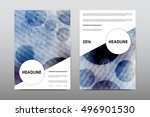 brochure layout template flyer... | Shutterstock .eps vector #496901530