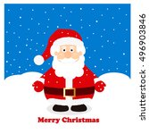 santa claus in the snow | Shutterstock .eps vector #496903846