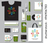 corporate identity template set.... | Shutterstock .eps vector #496906783