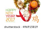 new year greeting card made of  ... | Shutterstock . vector #496915819