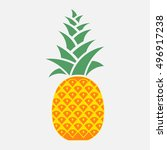 icon pineapple  symbol of... | Shutterstock .eps vector #496917238