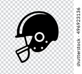 american football helmet icon. | Shutterstock .eps vector #496923136