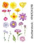 set collection arrangement... | Shutterstock . vector #496924198