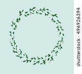 illustration of a cute green... | Shutterstock .eps vector #496926394