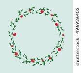 illustration of a cute green... | Shutterstock .eps vector #496926403
