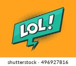 lol   laughing out loud retro... | Shutterstock .eps vector #496927816