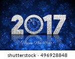 vector 2017 happy new year... | Shutterstock .eps vector #496928848