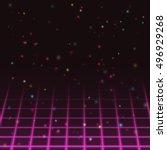 start screen of old video game. ...   Shutterstock . vector #496929268