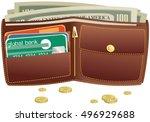 wallet and money. | Shutterstock .eps vector #496929688