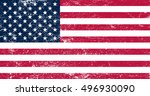 grunge flag of the united... | Shutterstock .eps vector #496930090