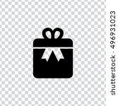 gift box icon | Shutterstock .eps vector #496931023