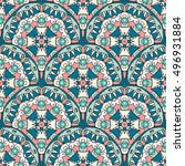 vector seamless pattern with... | Shutterstock .eps vector #496931884