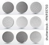 halftone 3d spheres.halftone... | Shutterstock .eps vector #496935703