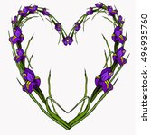 valentines day. floral heart...   Shutterstock .eps vector #496935760
