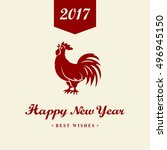 2017 chinese new year of the... | Shutterstock .eps vector #496945150