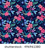 floral seamless pattern with... | Shutterstock .eps vector #496961380