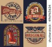 set of vintage typography  t... | Shutterstock .eps vector #496965634