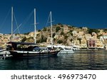 symi island  greece | Shutterstock . vector #496973470