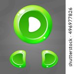 cartoon green buttons. vector...
