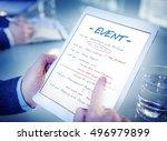 calendar agenda event meeting... | Shutterstock . vector #496979899