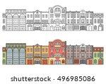 europe city. seamless... | Shutterstock .eps vector #496985086