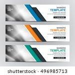abstract banner design... | Shutterstock .eps vector #496985713