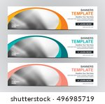 abstract banner design... | Shutterstock .eps vector #496985719