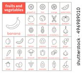 set of vector line icons of...   Shutterstock .eps vector #496989010