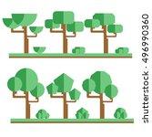 set of different trees. sprites ... | Shutterstock .eps vector #496990360