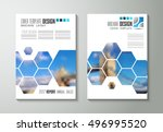 brochure template  flyer design ... | Shutterstock .eps vector #496995520