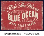 vintage surfing graphics and... | Shutterstock .eps vector #496996426