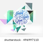 christmas design and elements... | Shutterstock .eps vector #496997110