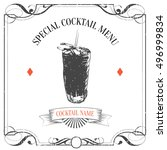 hand drawn sketch cocktail... | Shutterstock .eps vector #496999834