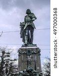 Small photo of Bern, Switzerland, statue Adrian von Bubenberg